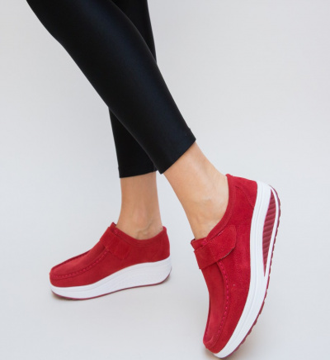 Pantofi Casual Tinna Rosii