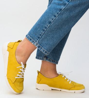 Pantofi Casual Viena Galbeni