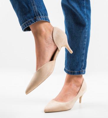 Pantofi Gely Bej