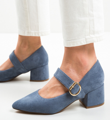 Pantofi Kacy Albastri