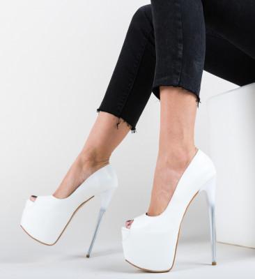 Pantofi Munteako Albi