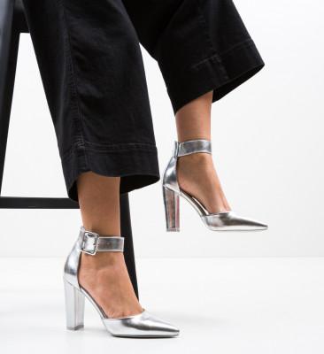 Pantofi Nathan Argintii