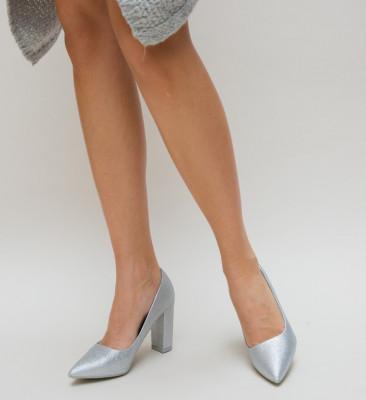 Pantofi Simera Argintii
