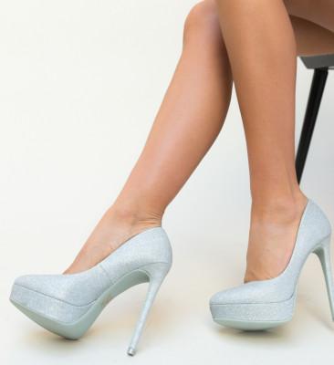 Pantofi Simia Argintii