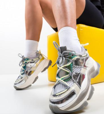 Pantofi Sport Teras Argintii