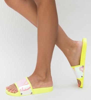 Papuci Bombo Galbeni