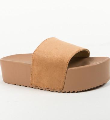 Papuci Escar Camel