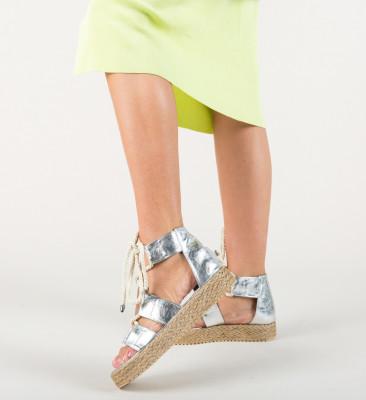 Sandale Boxen Argintii