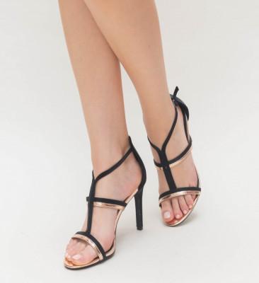 Sandale Cu Toc Ava Aurii