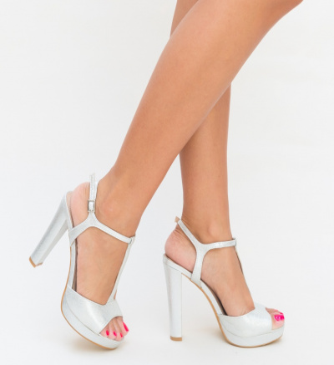 Sandale Eleonora Argintii