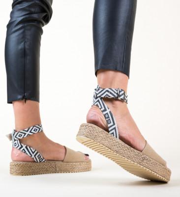 Sandale Folclor Bej