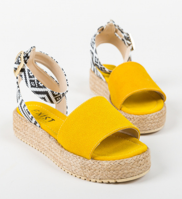 Sandale Folclor Galbene