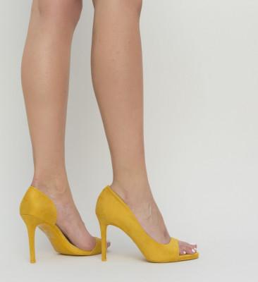 Pantofi Velt Galbeni