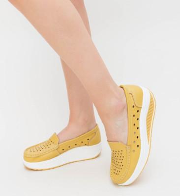 Pantofi Casual Buga Galbeni