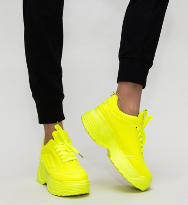 Pantofi Sport Ines Galbeni