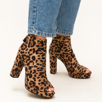 Botine Calver Animal Print