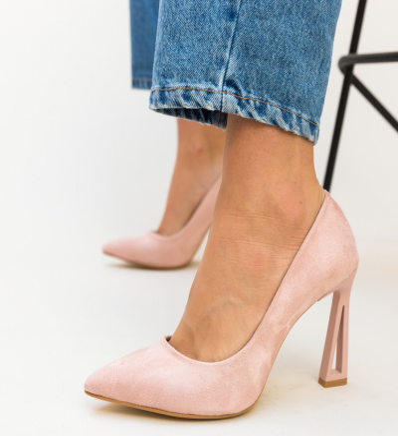 Pantofi Dipper Roz