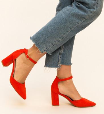 Pantofi Alya Rosii