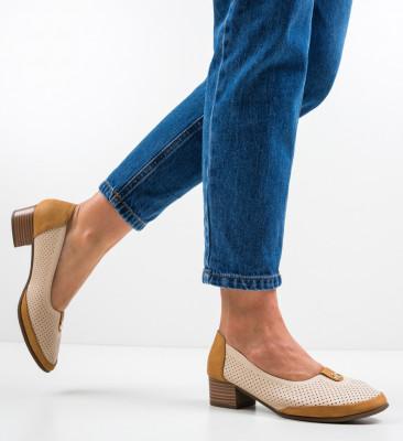 Pantofi Brazil Bej