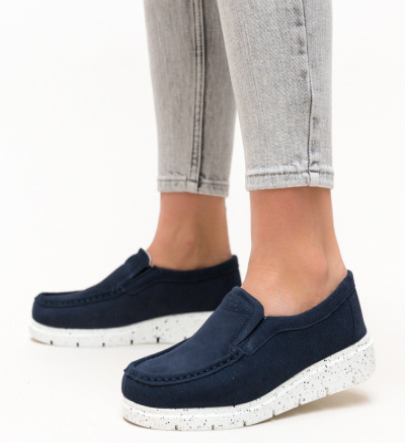 Pantofi Casual Adelin Bleumarin 2