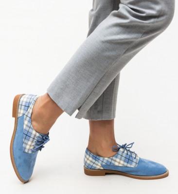 Pantofi Casual Biskrem Albastri