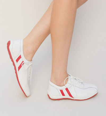 Pantofi Casual Destini Albi 2