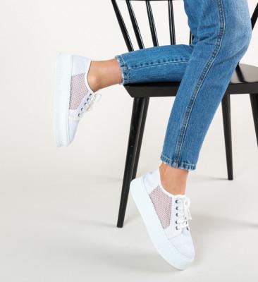Pantofi Casual Doheris Albi