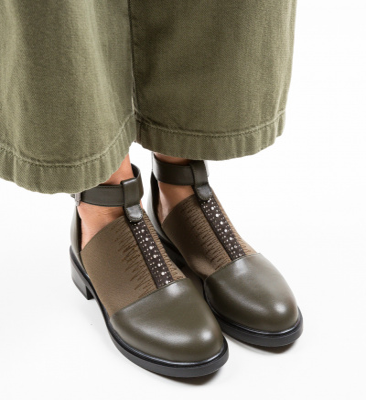 Pantofi Casual Loreta Khaki 2