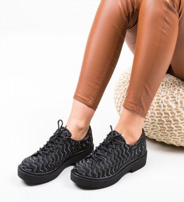 Pantofi Casual Morow Negri 2