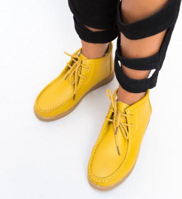 Pantofi Casual Munela Galbeni
