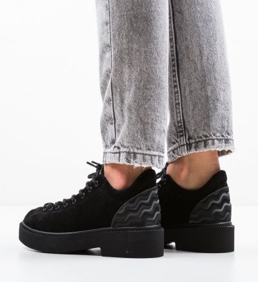 Pantofi Casual Neavio Negri 4