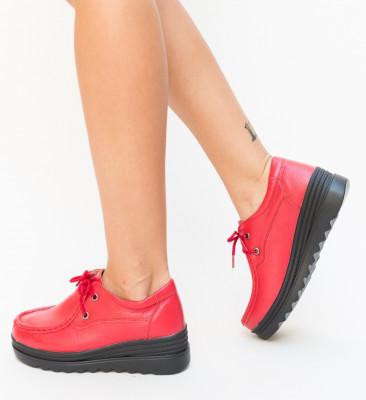Pantofi Casual Petro Rosii