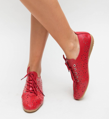 Pantofi Casual Progo Rosii