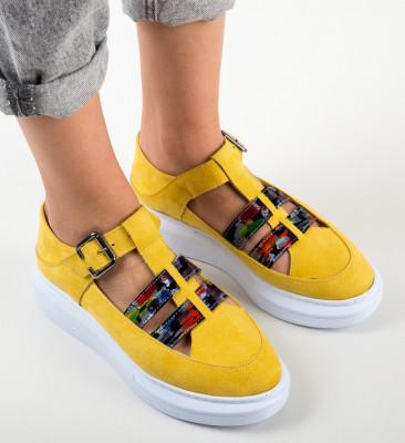 Pantofi Casual Sonicx Galbeni 2