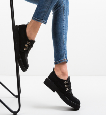 Pantofi Casual Squban Negri