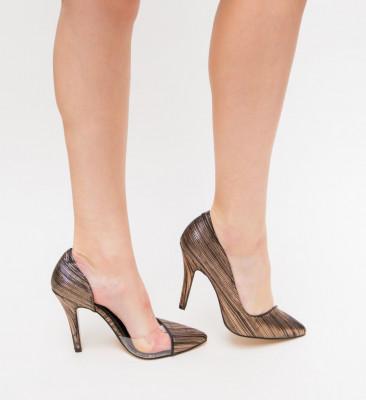 Pantofi Eman Bronz