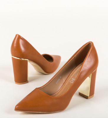 Pantofi Mikra Camel