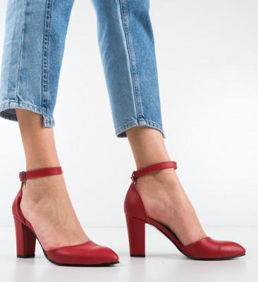 Pantofi Narcissa Rosii