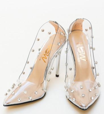 Pantofi Sabin Argintii