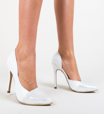Pantofi Shanon Albi