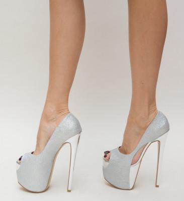 Pantofi Sicilia Argintii