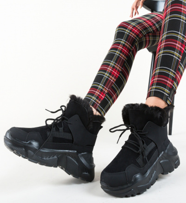 Pantofi Sport Motive Negri