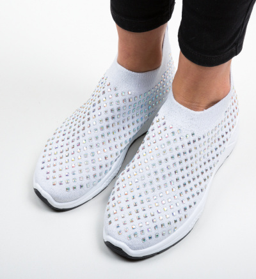 Pantofi Sport Rosa Argintii
