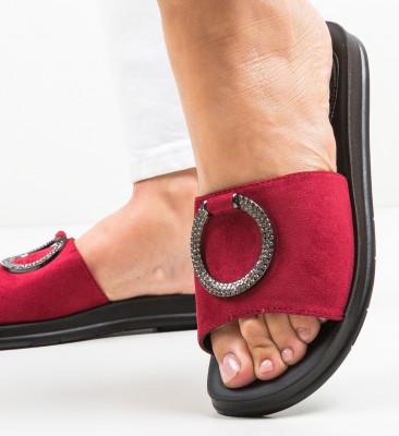 Papuci Henri Rosii
