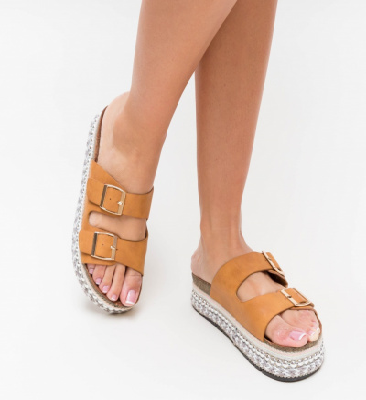 Papuci Roka Camel