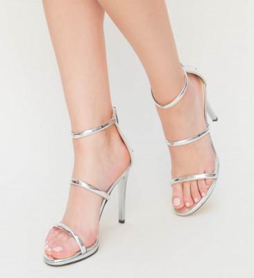 Sandale Cu Toc Kim Arginti