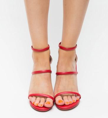 Sandale Cu Toc Kim Rosii 2