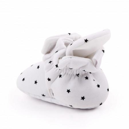 Botosei albi cu stelute pentru bebelusi