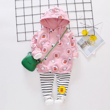 Costumas roz pentru fetite - The duck