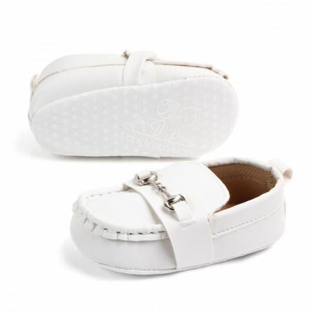 Pantofiori eleganti albi cu catarame